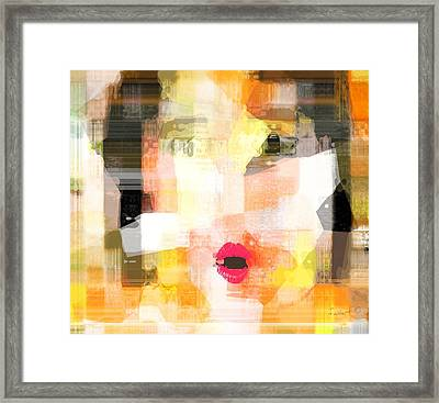Woman Reduced To A Child Framed Print by Fania Simon