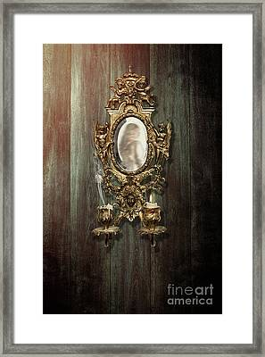 Woman Reflected In French Girondelle Framed Print by Amanda Elwell