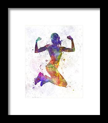 Runners Framed Prints