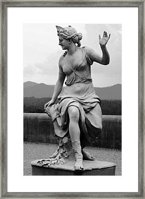 Framed Print featuring the sculpture Woman Sculpture Nc by Eric  Schiabor