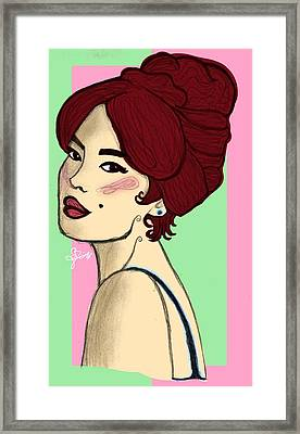 Woman Framed Print by Selena Francois
