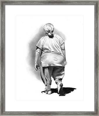 Woman Strolling In Sunshine Framed Print by Joyce Geleynse