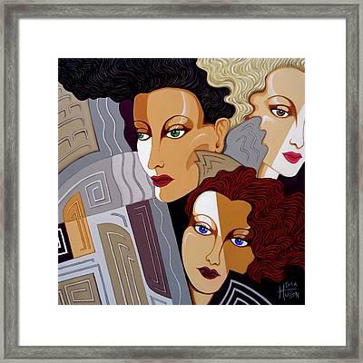 Woman Times Three Framed Print