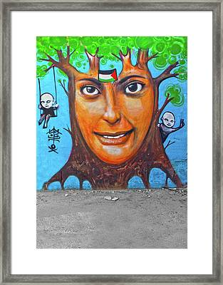 Framed Print featuring the photograph Woman Tree by Munir Alawi