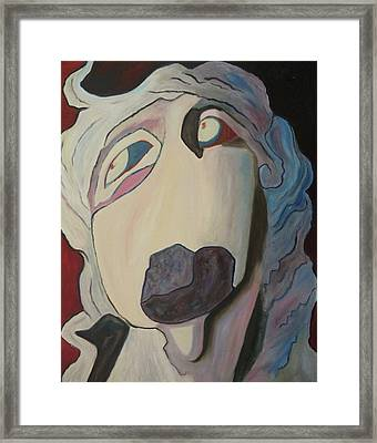 Woman Unable To Communicate Framed Print by Suzanne  Marie Leclair