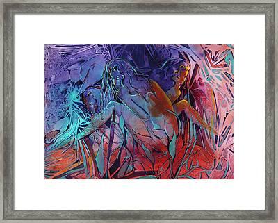 Woman  Unfolding Framed Print