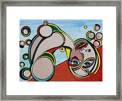 Woman Framed Print by Valerie Wolf