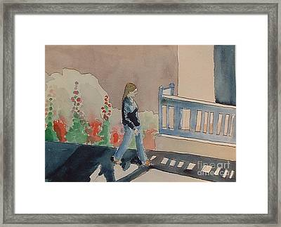 Woman Walking Down Nusbaum Street Framed Print