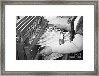 Woman Weaving Framed Print by Gaspar Avila