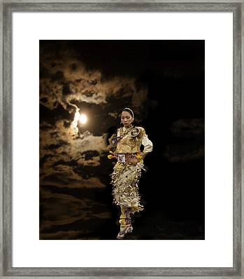 Woman Who Dances With Moon Framed Print