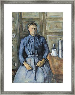 Woman With A Coffeepot  Framed Print by Paul Cezanne