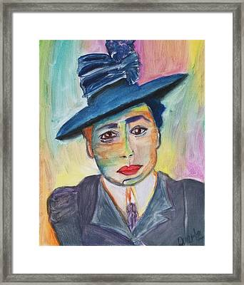 Woman With A Hat Framed Print by Carol Duarte