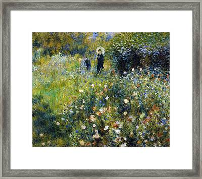 Woman With A Parasol After Renoir Framed Print