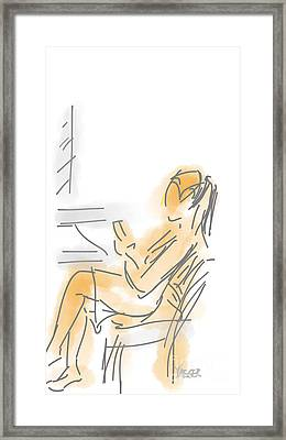 Woman With Cell Phone I Framed Print by Robert Yaeger