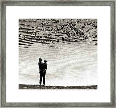 Woman With Child  Framed Print by Victor Yekelchik