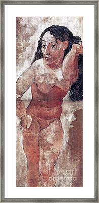 Woman With Comb Framed Print