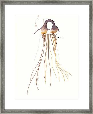 Woman With Dress From Chloe Framed Print