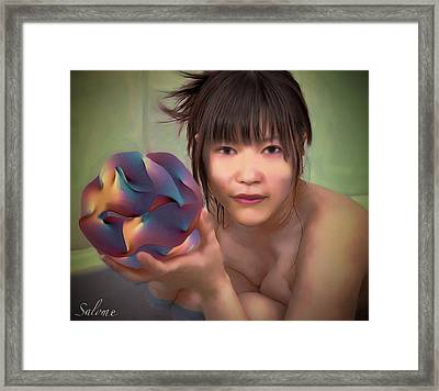 Woman With Eleven Dimensions Framed Print by Salome Hooper