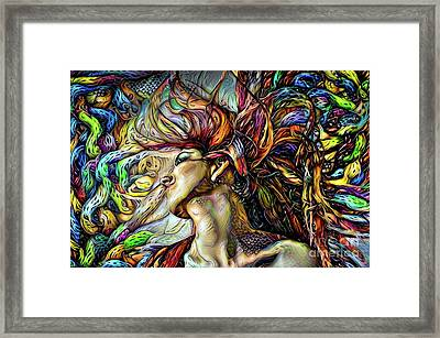 Woman With Flowing Hair 6 Framed Print