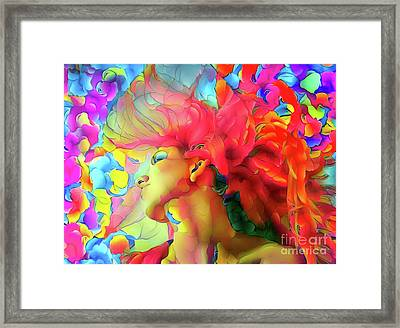 Woman With Flowing Hair 8 Framed Print by Amy Cicconi