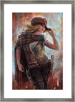 Woman With No Name Framed Print by Steve Goad