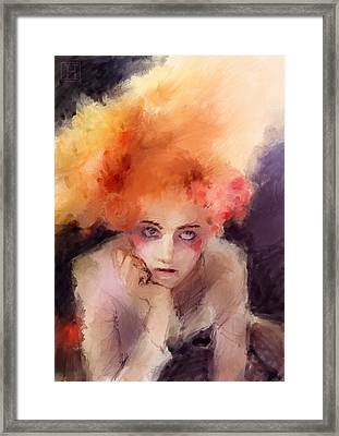 Woman With Red Hair Framed Print