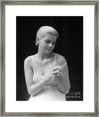 Woman With Soap, 1930s Framed Print by H. Armstrong Roberts/ClassicStock