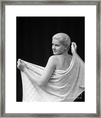 Woman With Towel, 1930s Framed Print by H. Armstrong Roberts/ClassicStock