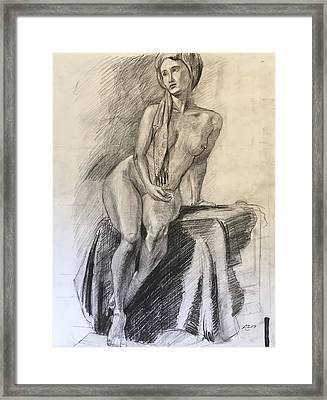 Woman With Turban Framed Print by Alejandro Lopez-Tasso