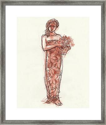 Woman With Turban Framed Print