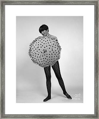 Woman With Umbrella, C.1960s Framed Print by H. Armstrong Roberts/ClassicStock