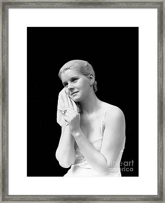 Woman With Washcloth, C.1930s Framed Print by H. Armstrong Roberts/ClassicStock