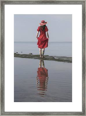 woman with Wellies Framed Print by Joana Kruse
