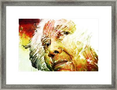 Woman With White Hair Framed Print by James VerDoorn