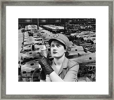 Woman Working During Wwii, C.1940s Framed Print by H. Armstrong Roberts/ClassicStock