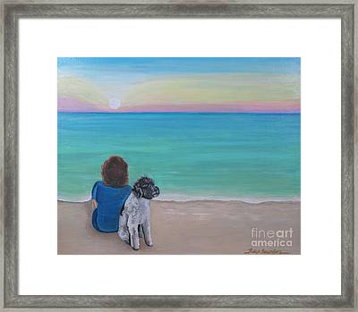 Woman's Best Friend Framed Print