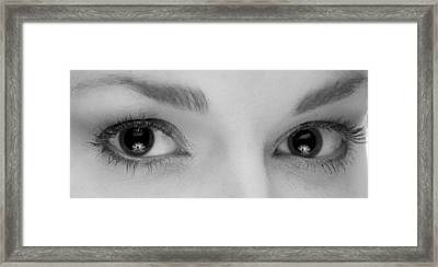 Womans Eyes Framed Print