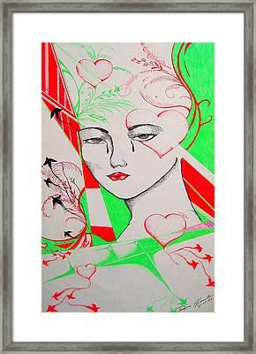 Woman's Love Framed Print by Dwayne  Hamilton