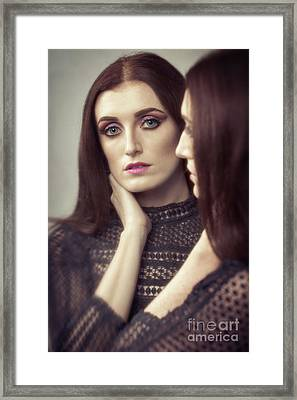 Woman's Reflection Framed Print