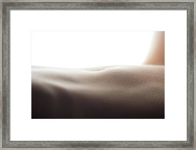 Womans Stomach Framed Print