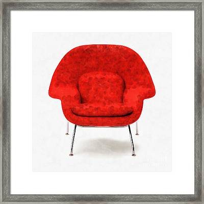 Womb Chair Mid Century Modern Framed Print by Edward Fielding