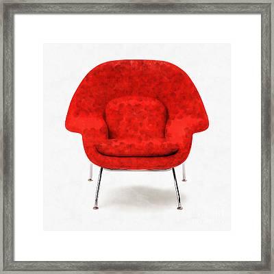 Womb Chair Mid Century Modern Framed Print