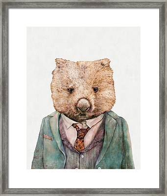 Wombat Framed Print by Animal Crew