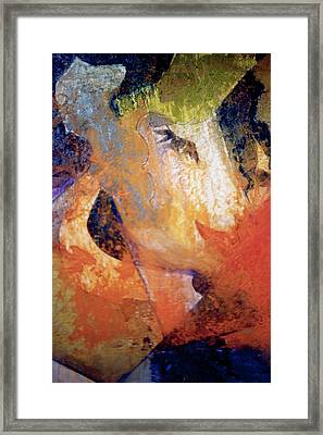 Women And A Rose Framed Print