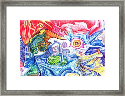 Women And The Sea Framed Print by James Hammons