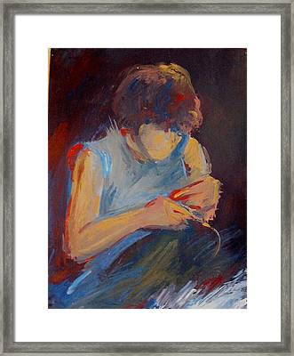 Women At Work Framed Print by Vasile Ion