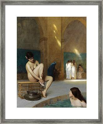 Women Bathing Framed Print