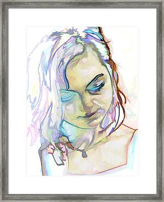 Women Body - Color Face1 Framed Print by Robert Litewka