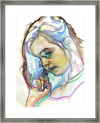 Women Body - Color Face2 Framed Print by Robert Litewka