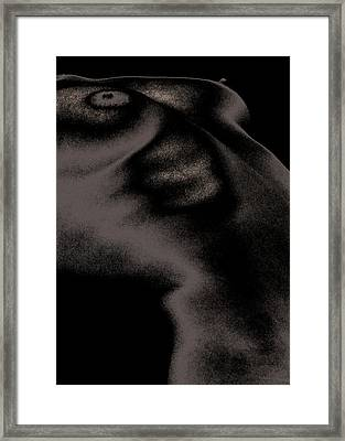 Women Body-metalic Black Framed Print by Robert Litewka